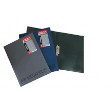 Папка с внутр.бок. зажимом и карманом А4 MEGAPOLIS сер. 0,60мм