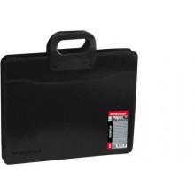 Портфель А3 (350*450*130мм.), 2 отдел. MEGAPOLIS черный