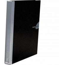 Папка накопитель 2НК 35мм WORK INSIDE черн. картон ламин.