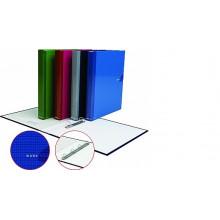 Папка накопитель 2НК 35мм WORK INSIDE синий картон ламин.