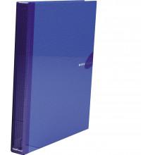 Папка накопитель 4НК 35мм WORK INSIDE син. картон ламин. ,  ErichKrause
