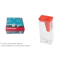 Точилка пласт. 1 отверстие, контейнер  CITY