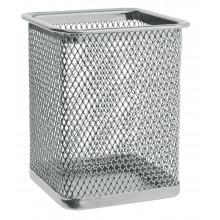 Подставка наст.металл (сетка) серебро квадратн. 80*80*95мм Erich Krause