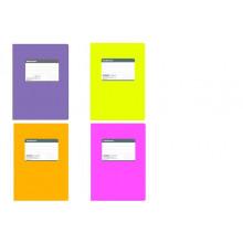 Тетрадь В5 120л. # FLUOR желт. гибкая ламин. обложка