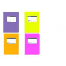 Тетрадь В5 120л. # FLUOR фиолет. гибкая ламин. обложка