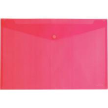 """Папка на кнопке А4 """"Envelope"""" Erich Krause полупрозр красн."""