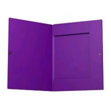 Папка на кнопке А4 с 3 клапанами (корешок 8мм)  CLASSIC фиолетовая