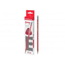 Карандаш графитный EXTRA трехгранный с ластиком НВ