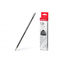 Карандаш графитный MEGAPOLIS HB трехгранный с ластиком Erich Krause
