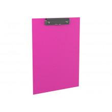 Планшет А4  Neon мет.зажим розовый