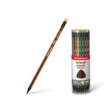 Карандаш графитный Vivo  трехгранный с ластиком  НВ ErichKrause