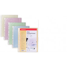 Файлы А4 цветной Clear Standard (100шт) ассорти 0,03мм