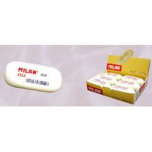 Ластик MILAN 1012  д/карандашей B,2B,4B бел. овальн.средн. 62*28*12мм