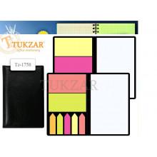 Бумага кл в наборе с липким слоем TZ 1758 (12*70мм-1шт, 70*35мм-2шт, 45*10-5шт)
