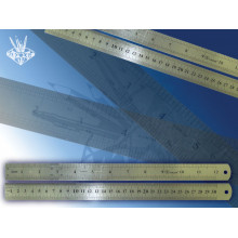 Линейка метал. 30см  двустор. TZ384