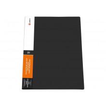 Дисплей книга 20ф LAMARK 0,60мм черная