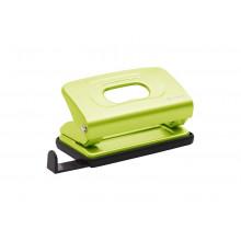 Дырокол 10л Mettallic с линейкой светло-зеленый