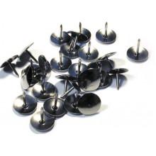 Кнопки 100шт. 12мм, никел, в карт.коробке