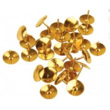 Кнопки 100шт. 12мм, золото, в пласт.боксе