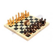 Игра 3в1 (Нарды, шашки, шахматы малые) 295*145мм дерево