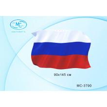 """Флаг РОССИИ """"Триколор"""" 60*145см, искусств. шелк"""