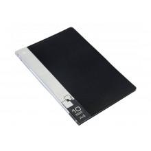 Дисплей книга А4 10ф Бюрократ 0,6мм черный BPV10BLACK