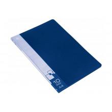 Дисплей книга А4 10ф Бюрократ 0,6мм синий BPV10BLUE