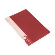 Дисплей книга А4 10ф Бюрократ 0,6мм красный BPV10RED