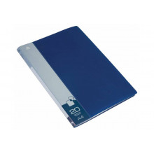 Дисплей книга А4 20ф Бюрократ 0,6мм синий BPV20BLUE