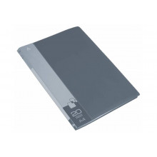 Дисплей книга А4 20ф Бюрократ 0,6мм серый BPV20GREY