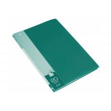Дисплей книга А4 20ф Бюрократ 0,6мм зеленый BPV20GRN