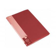 Дисплей книга А4 20ф Бюрократ 0,6мм красный BPV20RED