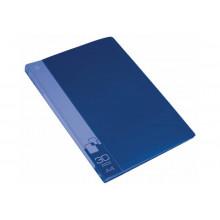 Дисплей книга А4 30ф Бюрократ 0,65мм синий BPV30BLUE