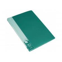 Дисплей книга А4 30ф Бюрократ 0,65мм зеленый BPV30GRN