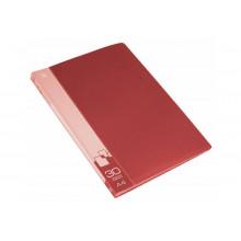 Дисплей книга А4 30ф Бюрократ 0,65мм красный BPV30RED