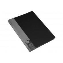 Дисплей книга А4 40ф Бюрократ 0,65мм черный BPV40BLCK