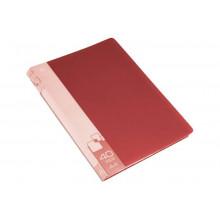 Дисплей книга А4 40ф Бюрократ 0,65мм красный BPV40RED