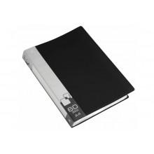Дисплей книга А4 60ф Бюрократ 0,7мм черный BPV60BLACK