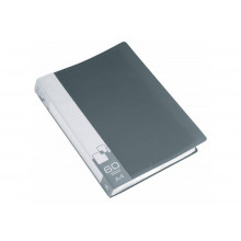Дисплей книга А4 60ф Бюрократ 0,7мм серый BPV60GREY