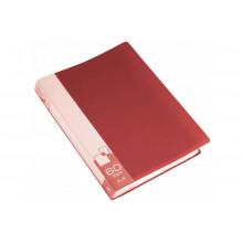 Дисплей книга А4 60ф Бюрократ 0,7мм красный BPV60RED