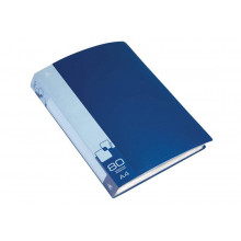 Дисплей книга А4 80ф Бюрократ 0,8мм синий BPV80BLUE