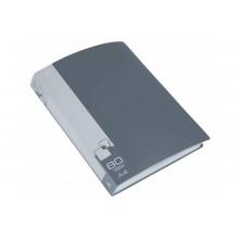 Дисплей книга А4 80ф Бюрократ 0,8мм серый BPV80GREY