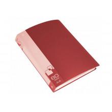 Дисплей книга А4 80ф Бюрократ 0,8мм красный BPV80RED