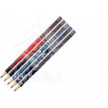 Карандаш графитный KIN 1231  НВ с ластиком Ассорти