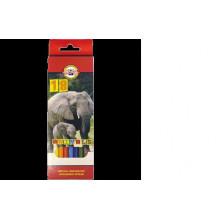 Карандаши 18 цв. KIN Animals 3553
