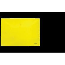 """Папка на кнопке А4 """"Clear Bag Proff"""" 0.20мм матовая желтая"""