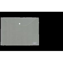 "Папка на кнопке А4 ""Clear Bag Proff"" 0.20мм матовая серая"