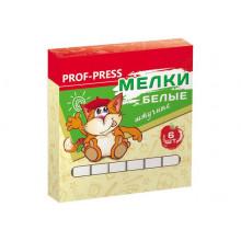 Мел белый школьный 6 шт Prof-press