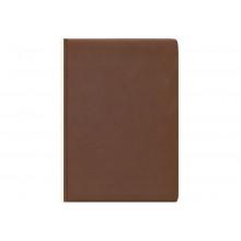Еженедельник А4 72л. ГЛОСС темно-коричневый кожзам  недат.