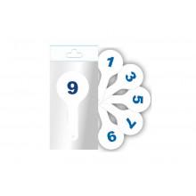 Веер цифры от 0 до 9,  Ц-02